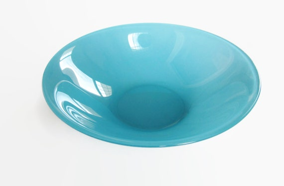 Spruce Green Glass Serving Bowl Vintage Sandwich Tiara Style 11 Extra Large Size Centerpiece Bowl Beautiful Teal Blue Green Glassware