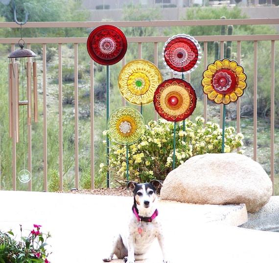 SOLD Colorful Yard Art Flower Garden Decoration Garden | Etsy