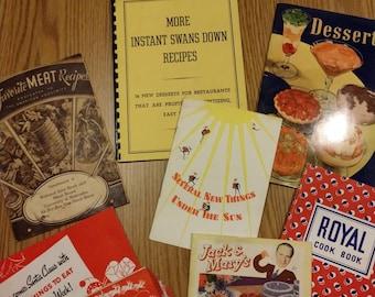 Lot of 8 vintage cooking pamphlets