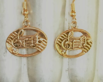 Musical Earrings - Music Staff, Treble Clef, Music Notes- Musician Earrings