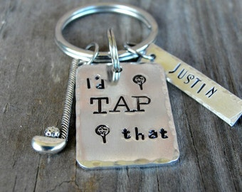 Golf Gift - Golfer Gift - Golf Coach Gift - Personalized Gift - Golf Keychain - I'd Tap That - Hand Stamped- Golf Team Gift   - Wedding
