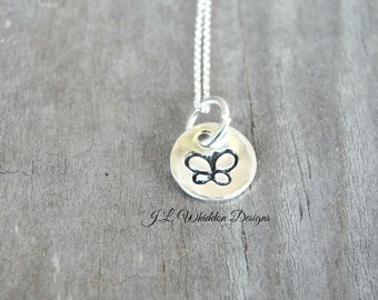 Butterfly Necklace - Sterling Silver Butterfly Necklace - Silver Butterfly Necklace -Minimal Necklace - Sterling Silver Necklace