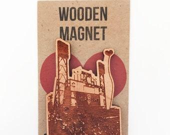 San Francisco Giants Ballpark Wooden Magnet