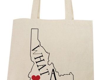 Idaho What a Gem Lightweight Cotton Tote Bag