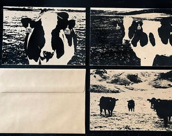 Cows note card set