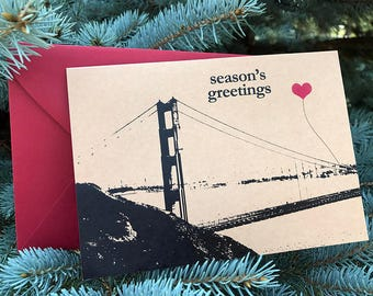 Season's Greetings from San Francisco Christmas note card set