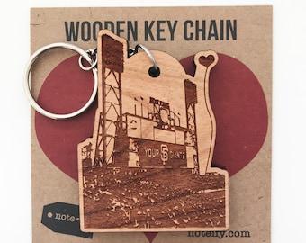 San Francisco Giants Ballpark Wooden Key Chain