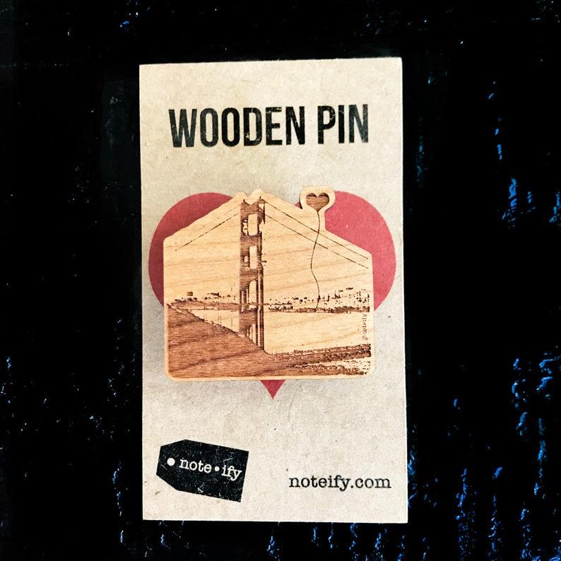 San Francisco Golden Gate Bridge Wooden Pin