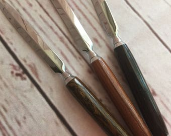 Handmade Letter Opener EHC00101 FREE SHIPPING Wood Acrylic Turned Lathe Envelope Blade Hand Made Hand-Turned Gift Wedding Father Mother