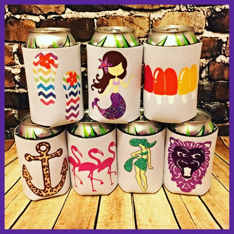 f3af5df3580a5 Fun Can Cozy AA00901 Insulated Summer Flip Flops Lady Lion Anchor Animal  Cheetah Print Birthday Soda Pop Beverage Mermaid Flamingo Popcicle