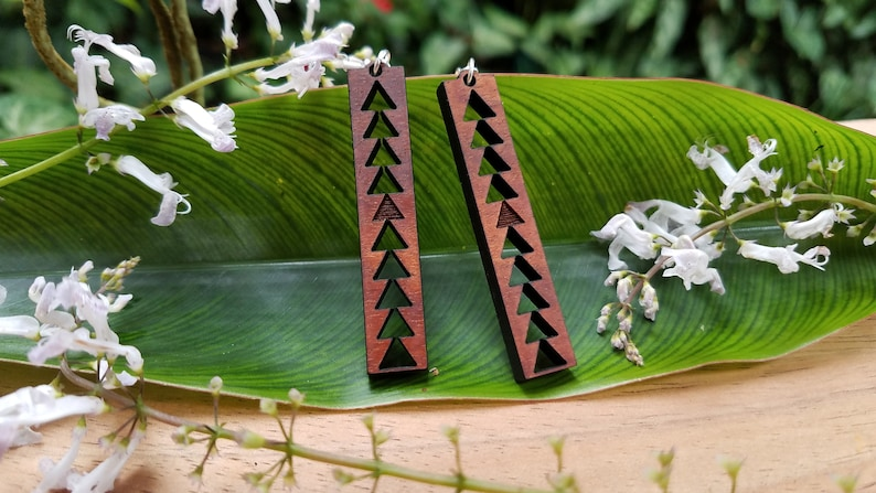 Mauna a Wakea Koa earrings