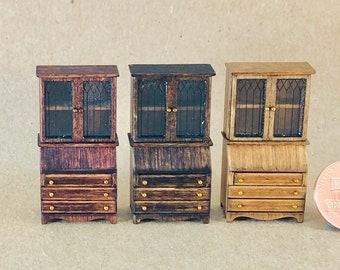 Secretary - Quarter Inch Scale Dollhouse Furniture