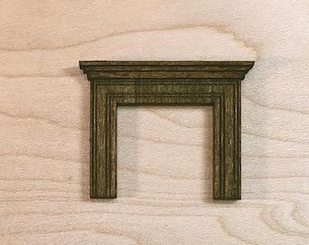 Edwardian Fireplace Kit - Quarter Inch Scale Dollhouse Furniture