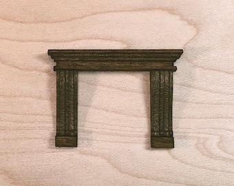 Ornate Fireplace Kit - Quarter Inch Scale Dollhouse Furniture
