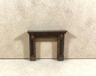 Paneled Fireplace Kit - Quarter Inch Scale Dollhouse Furniture