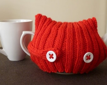 Knit Teapot Warmer, 6 Cup Cozy, Teapot Cover, Gift for Tea Drinker, Mothers Day