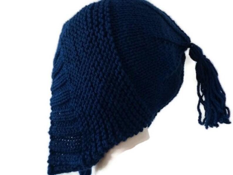 2dc55eb1e4b Knit Ear Flap Womens Winter Hat with Tassels Ear Flap Hat