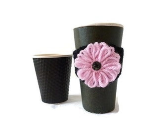 Knit Coffee Cozy, Eco Cup Sleeve, Reusable Coffee Cozy, Coffee Sleeve, Cup Cozy, Stocking Stuffer