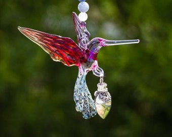 Keepsake Hummingbird Urn - Sympathy Gift - Bereavement Gift - Memorial Urn