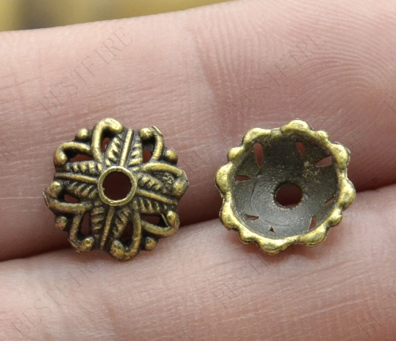 20 pcs of 11mm New style Bead Caps flower Shape Antique bronze Tone,beadcap findings,beads,findings beads