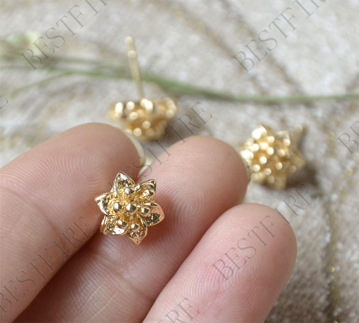 10Pcs oro plateado ganchos pendientes de lágrima con cristales de alambre hallazgos 10x16mm