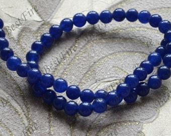 Single 8mm blue jade round stone Beads ,jade stone beads loose strands,jade jasper beads findings 15inch
