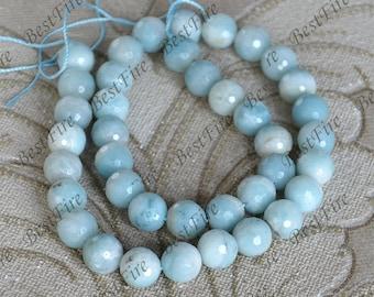 Single 10mm faceted Amazonite beads,Amazon round stone Loose Beads,amazon gemstone beads loose strand