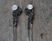 Diamond cut Glam 925 Italian chain crochet fringe earrings