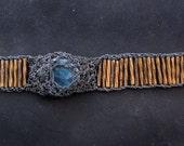 20% sale - deep blue apatite gemstone bracelet