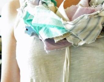 pastel scrap scarf