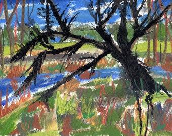 Memory Walk #11, Original Painting on paper