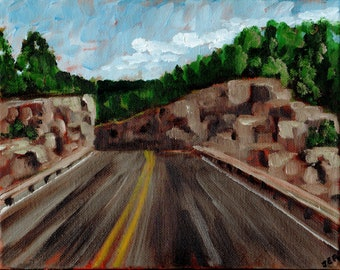 Road Trip #5, Original Painting on canvas