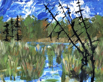 Trail Walk at the RBG, Original Painting on paper