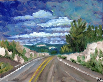 Road Trip #1, Original Painting on canvas