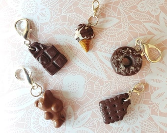 polymer clay charm collection all chocolat