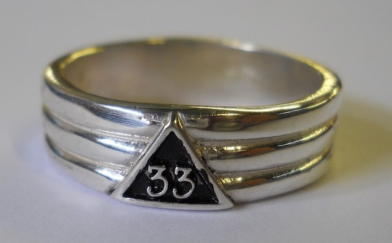 Sterling Silver or Gold 33rd Degree Masonic Ring