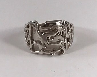 Sterling Silver or Gold Celtic Dragon Ring