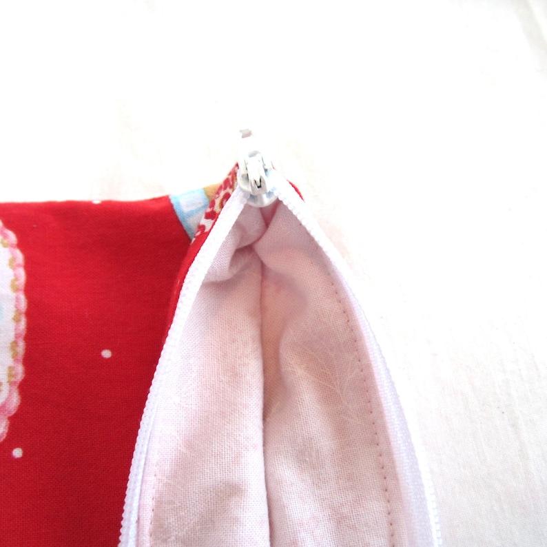 Cake Fabric Zipper Pouch  Pencil Case  Make Up Bag  Gadget Pouch