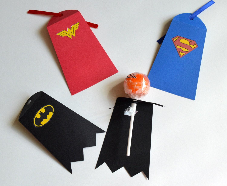 Superhero Lollipop Capes Set Of 12 Superhero Cakepop Capes Etsy