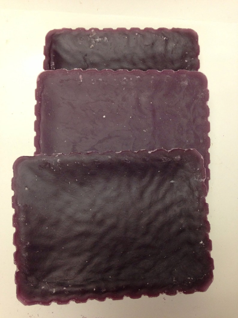 Recycled candle wax block