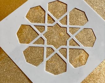 8-FOLD ROSETTE Islamic Geometry Stencil