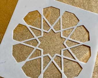 10-FOLD ROSETTE Islamic Geometry Stencil