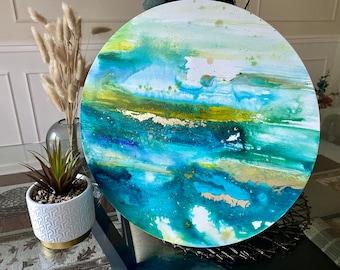 """Original Painting """"Nourishment"""" 16 in. diameter"""