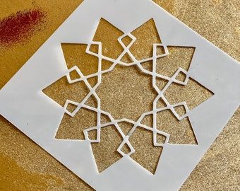 10-POINTED INTERLACED STAR Islamic Geometry Stencil