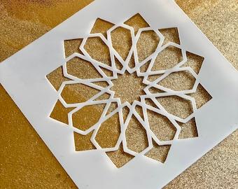 12-FOLD ROSETTE Islamic Geometry Stencil