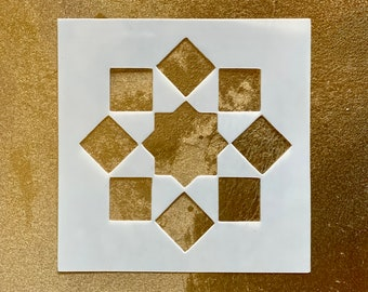 8-POINTED SQUARE STAR Islamic Geometry Stencil