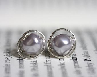 Swarovski baroque pearl earrings