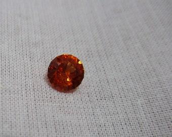 Fanta Orange Spessartite Garnet Gemstone 6.5 mm Round