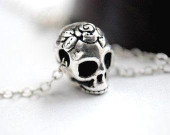 Sugar Skull Necklace Dia De Los Muertos Day of the Dead