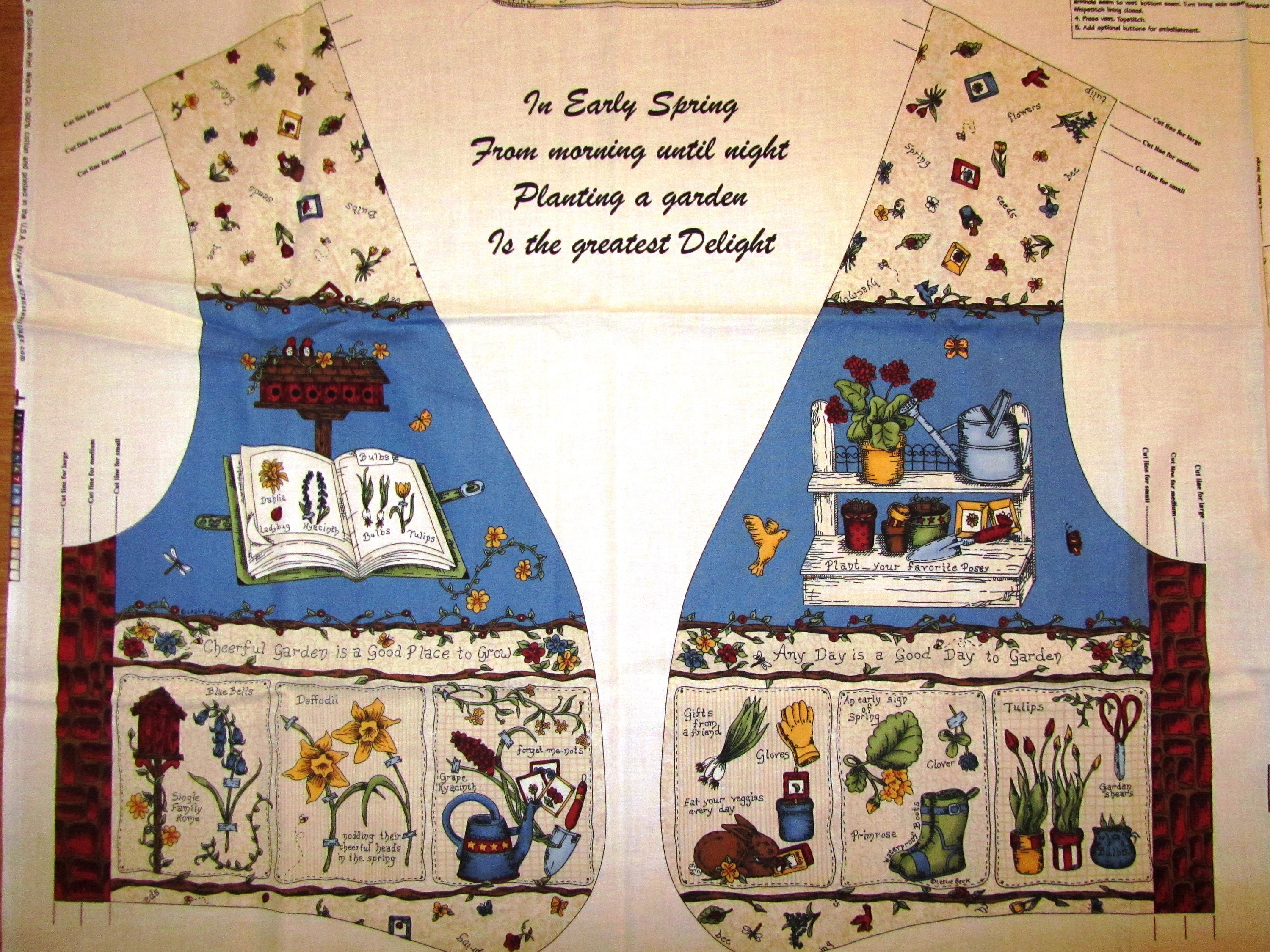 Backyard Blooms Garden Vest By Leslie Beck For Vip Hard To Etsy